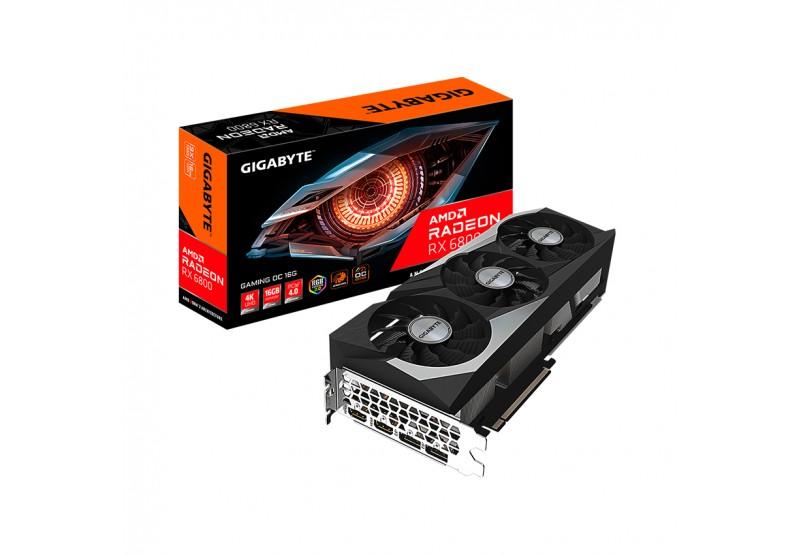 Card màn hình Gigabyte RX 6800 Gaming OC (16GB GDDR6, 256-bit, HDMI+DP, 2x8-pin)